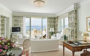 Picture room, France, interior, the hotel, terrace, Cote d'azur, hotel Du-Cap Eden Roc