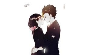 Picture romance, pair, two, Volleyball, Haikyuu, Nishina, Kyoko