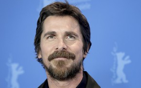 Picture background, actor, smiling, Christian Bale