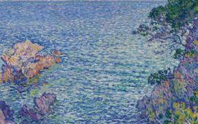 Picture landscape, picture, 1904, pointillism, Theo van Rysselberghe, Theo van Reysselberge, Pointe du Rossignol