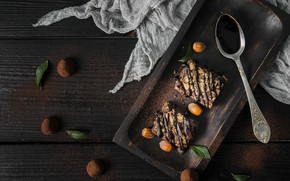 Picture chocolate, cake, dessert, oehi, Truffle