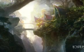 Picture landscape, fantasy, the game, Icarus