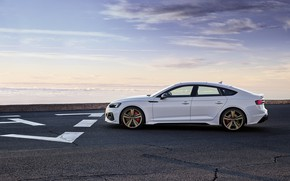 Picture sunset, Audi, the evening, side view, RS5, Sportback, RS 5, 2020