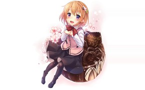 Picture girl, dessert, cake