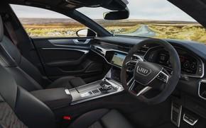 Picture Audi, interior, salon, RS 7, 2020, UK version, RS7 Sportback
