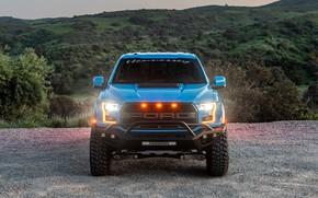 Picture lights, Ford, front view, Raptor, pickup, F-150, Hennessey, 2019, VelociRaptor V8