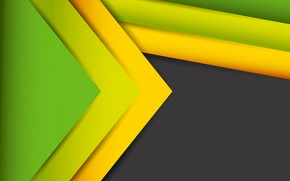 Picture line, green, abstract, figure, yellow, lines, fon, figures