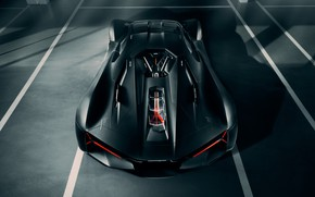 Picture Lamborghini, supercar, the view from the top, hypercar, The Third Millennium
