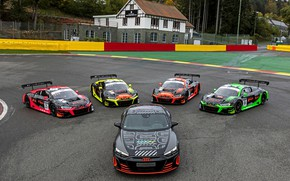 Picture Audi, coupe, on the track, 2020, R8, RS e-Tron GT Prototype, R8 LMS