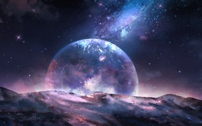 Picture space, planet, by CZY