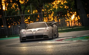 Picture the evening, supercar, Pagani, racing track, To huayr, Imola, 2020