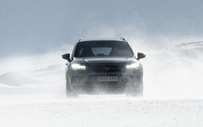Picture snow, the wind, Blizzard, SUV, Seat, Cupra, Ateca, 2019