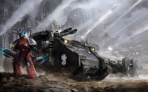 Picture war, tank, war, space marine, space Marines, Warhammer, tank, Iron Hand, Iron Hands, Warhammer 40 …
