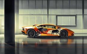Picture Lamborghini, sports car, bulls, Aventador S, Skyler Grey