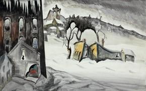 Picture 1918, Charles Ephraim Burchfield, February Dusk