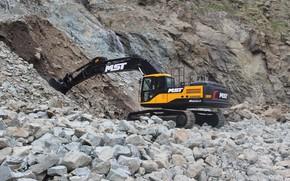 Picture excavator, MST, construction equpments