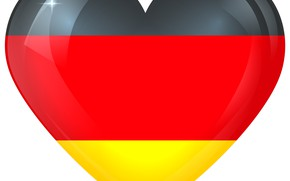 Picture German, Germany, Flag, Heart, Flag Of Germany, German Flag