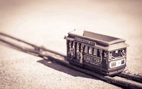 Picture Wallpaper, Railway, Macro, Toy, Tram