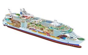 Picture cutaway, engineering, cruise ship, oasis of the seas