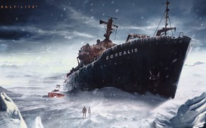 Picture Boat, Ship, Half Life, half life, valve, Borey, gordon freeman, half life 2, black mesa, …