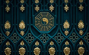 Picture background, patterns, texture, gate, East, Zen, Yin-Yang, Buddhism