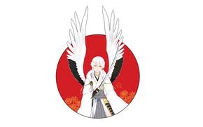 Picture angel, guy, Touken Ranbu, Dance Of Swords