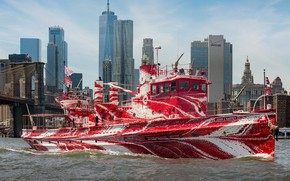 Picture boat, color, fire, original