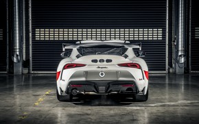 Picture coupe, Toyota, rear view, Supra, 2020, Gazoo Racing, GR Supra GT4