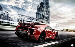 Picture Red, Auto, The city, Machine, Supercar, Rendering, Concept Art, Sports car, Lykan, Game Art, Transport …