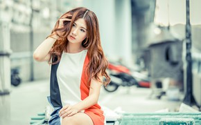 Picture girl, hair, Asian