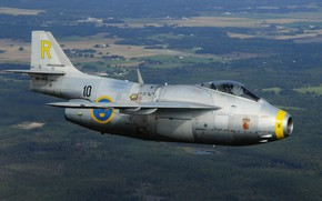 Picture Fighter, Pilot, The Saab 29 Fighter, Cockpit, You CAN, Swedish air force