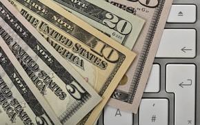 Picture money, dollar, keyboard, bills, dollar, keyboard