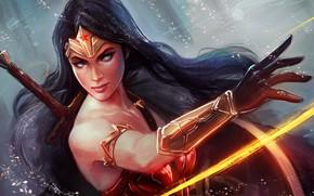 Picture figure, sword, armor, art, Wonder Woman, comic, DC comics, Wonder woman
