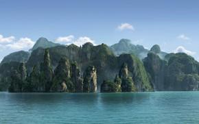 Picture island, jungle, Jungle, Olga Antonenko