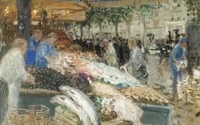 Picture picture, Fish Market, Pierre Eugène Montesin, Pierre-Eugene Montezin