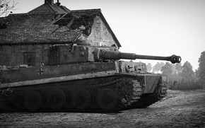 Picture tower, Tiger, Tank, War Thunder, Ground Forces