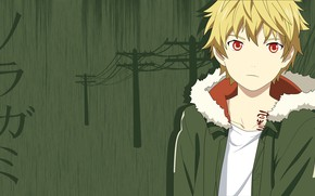 Picture anime, boy, art, Noragami, a homeless God, Yukine