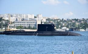 Picture boat, underwater, diesel, the black sea fleet, Krasnodar, the project 636.3