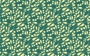 Picture flowers, yellow, green, background, pattern, Flowers, Pattern, Seamless