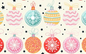 Picture background, holiday, balls, toys, new year, vector, texture
