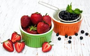 Picture berries, strawberry, black, currants, Olena Rudo