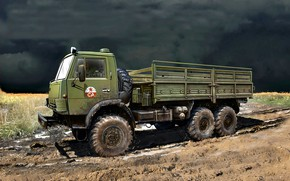 Picture USSR, The Soviet Army, KamAZ-4310, Kama automobile plant, army truck