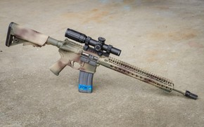 Picture carabiner, AR-15, assault rifle