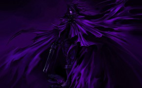 Picture weapons, the demon, demon, killer, weapon, final fantasy, killer, purple background, Final Fantasy VII, anime …