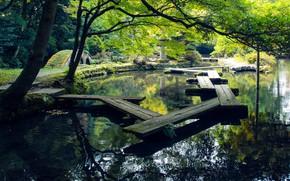 Picture Park, China, bridges, pond