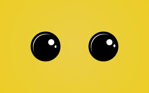 Picture eyes, look, yellow, texture