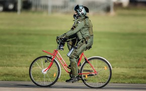 Picture Grass, Wheel, Helmet, Bike, Pilot, WFP