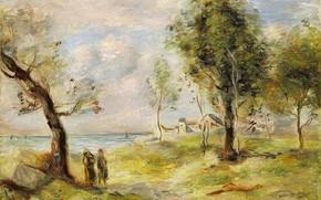 Picture picture, Pierre Auguste Renoir, Pierre Auguste Renoir, LANDSCAPE(after Corot), 1897-98