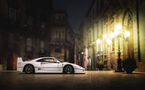 Picture Auto, White, Machine, Ferrari, F40, Rendering, Ferrari F40, Blind Sarathonux, Ferrari F-40, F-40, Transport & …