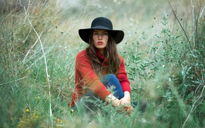 Picture girl, nature, Belle Mc Nulty